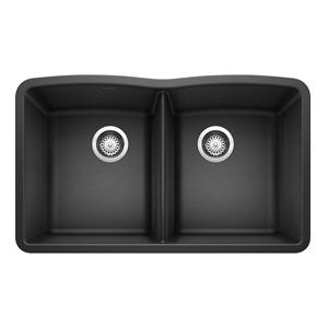 DIAMOND Undermount Granite Composite 32.06 in. 50/50 Double Bowl Kitchen Sink in