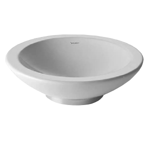 BAGNELLA WASH BOWL WHITOUT OVERFLOW WITHOUT TAP PLATAFORM CHROME RING