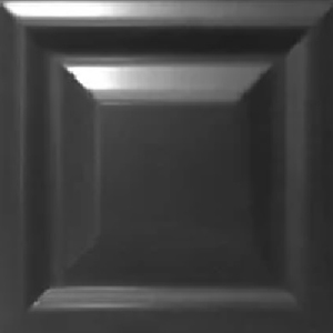PIRAMID BLACK 25.4X25.4