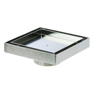 LUXE - SQUARE TILE INSERT POINT DRAIN W/2